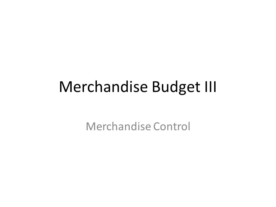 Three areas of concern Planned purchases from merchandise budget become purchase ordersdo purchase orders follow the planor exceed plan.