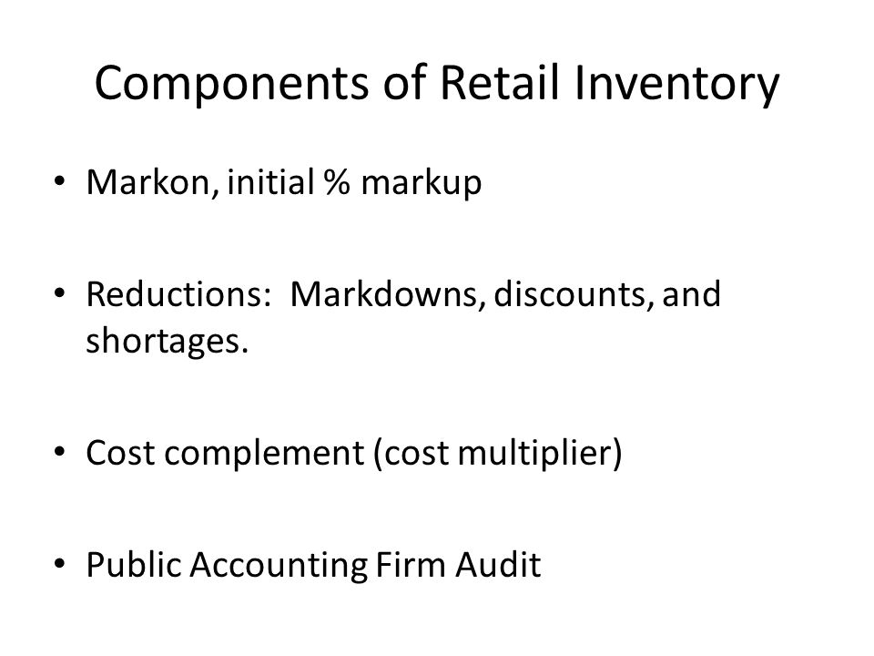 Estimate markdowns and determining turnover