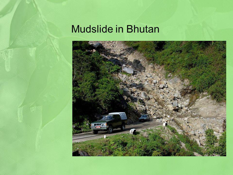 Mudslide in Bhutan