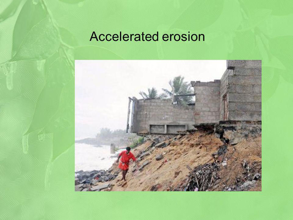 Accelerated erosion