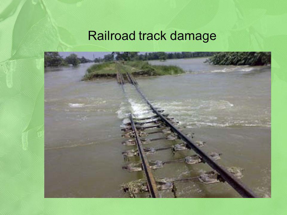 Railroad track damage