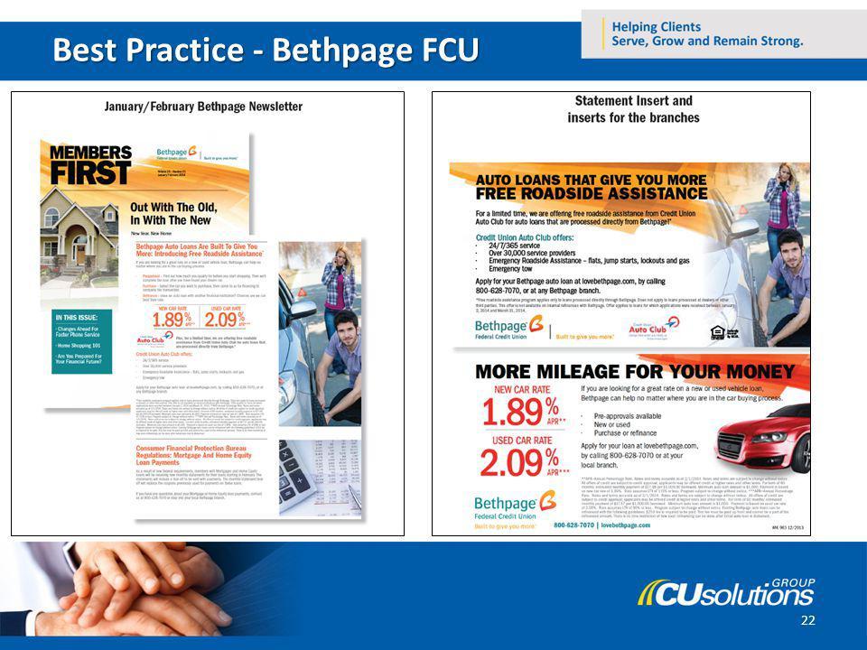 Best Practice - Bethpage FCU 22