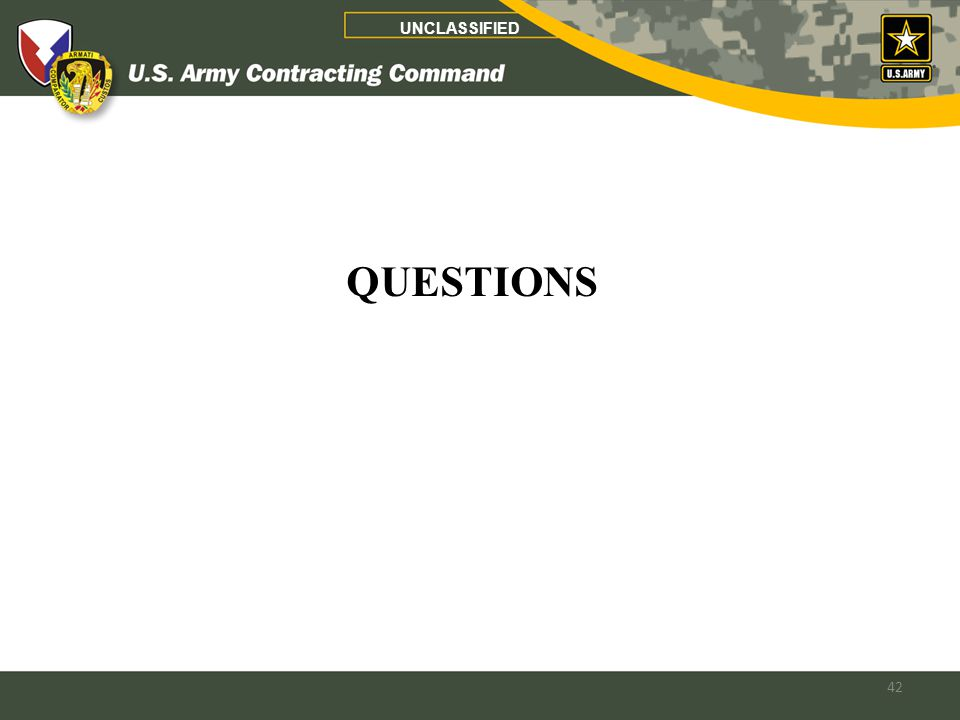 42 UNCLASSIFIED QUESTIONS