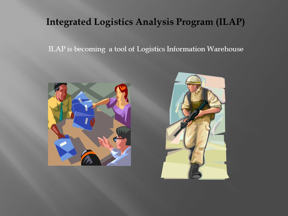 Integrated Logistics Analysis Program (ILAP) ILAP is becoming a tool of Logistics Information Warehouse
