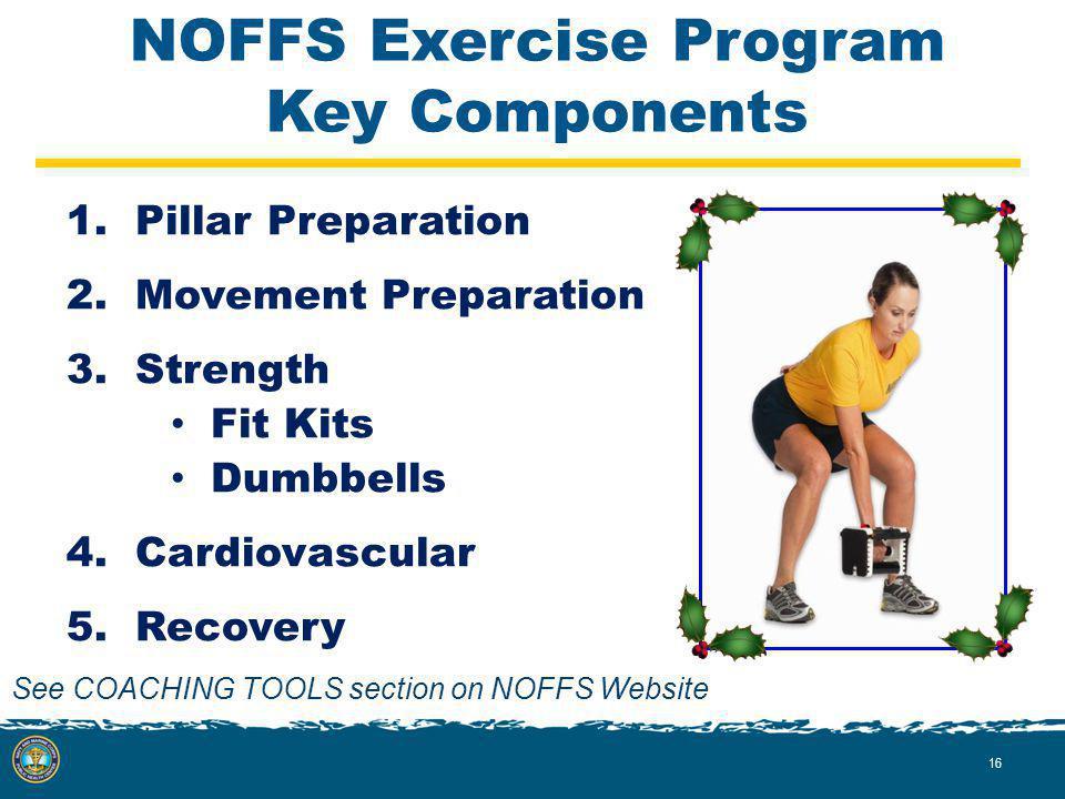 NOFFS Exercise Program Key Components 1. Pillar Preparation 2.