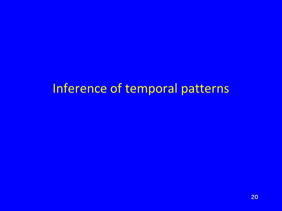 20 Inference of temporal patterns