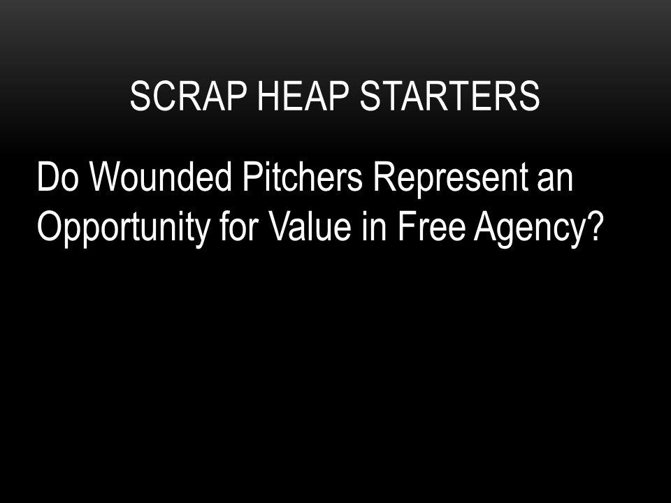 SCRAP HEAP STARTERS Do Wounded Pitchers Represent an Opportunity for Value in Free Agency?