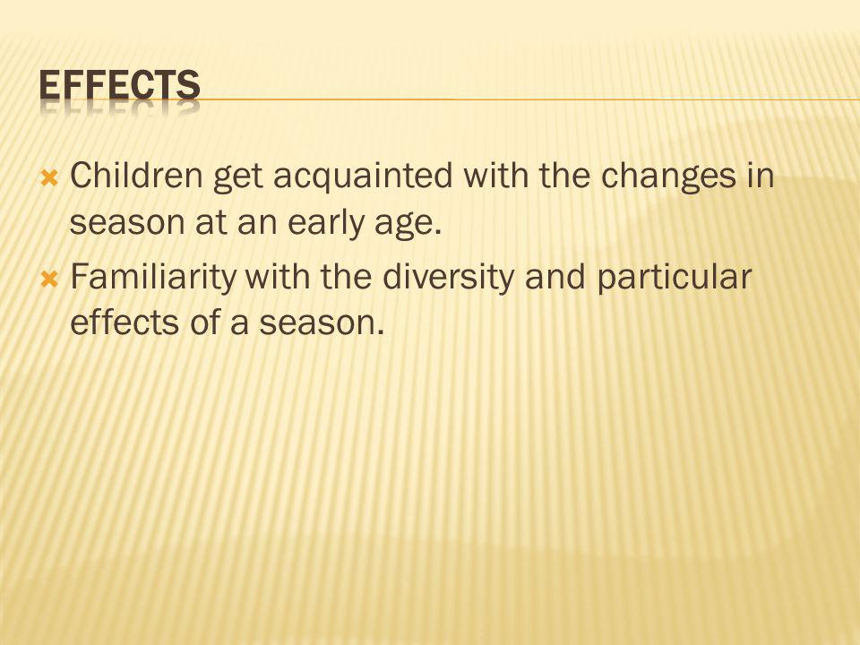 This poem imparts much information about seasonal change and its effects to the students.