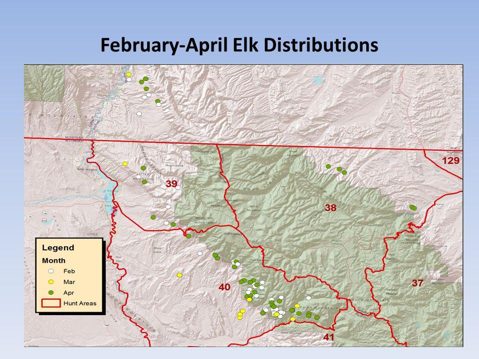 May – June Elk Distributions