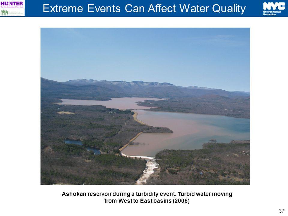 37 Ashokan reservoir during a turbidity event.