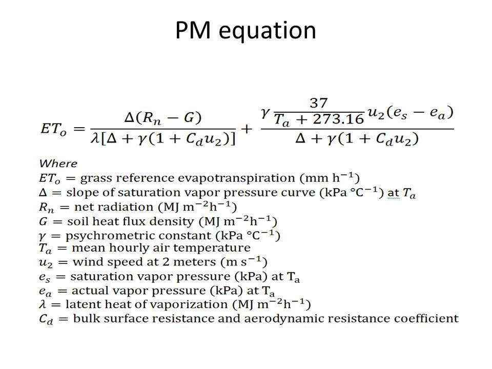 PM equation