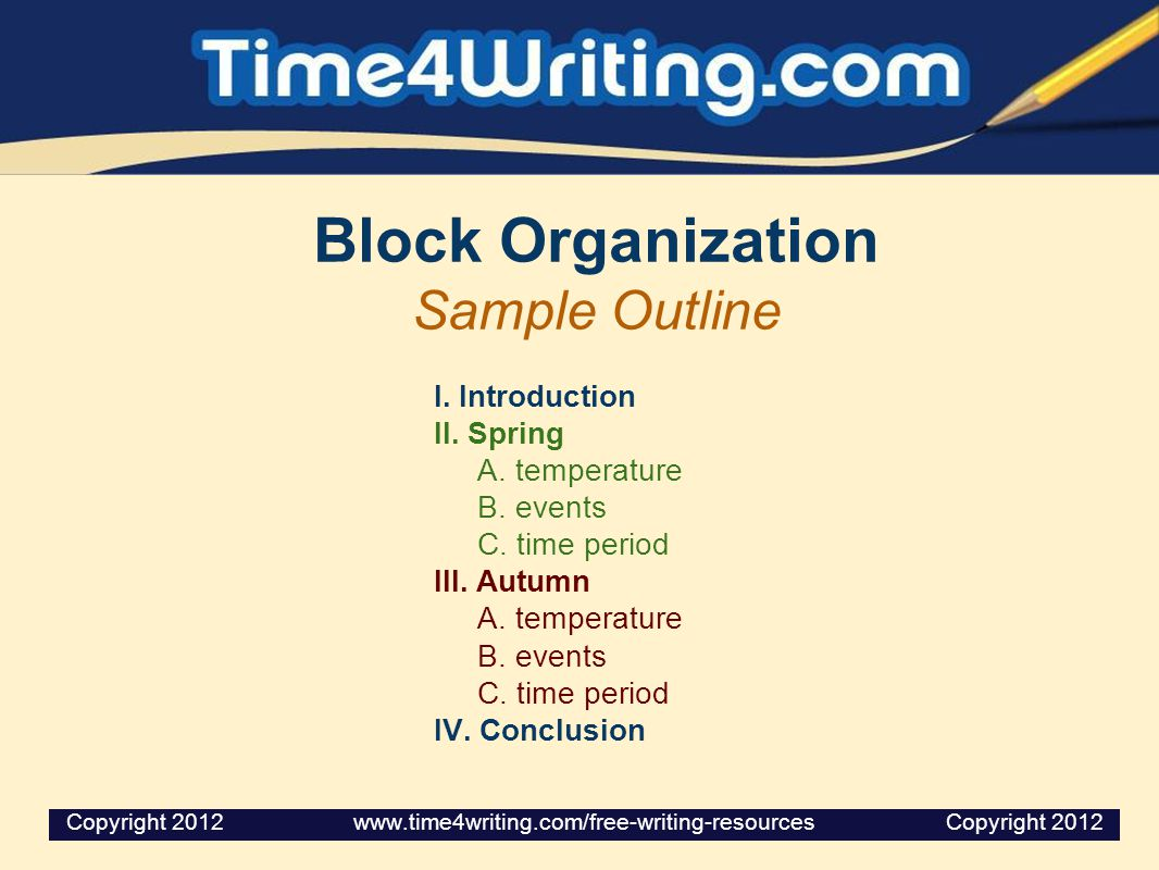 Point-by-Point Organization Sample Outline I.Introduction II.Temperature A.