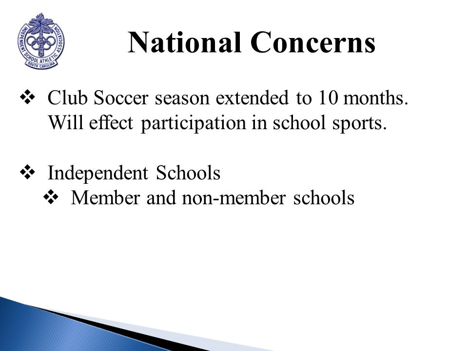 National Concerns Club Soccer season extended to 10 months.