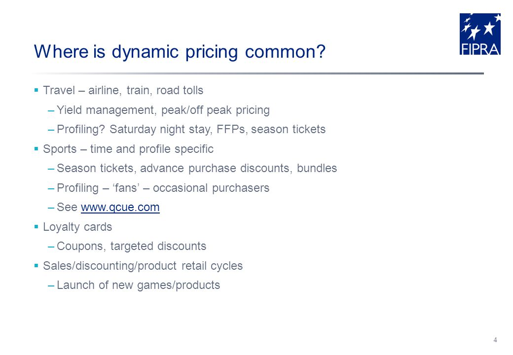 Where is dynamic pricing common.