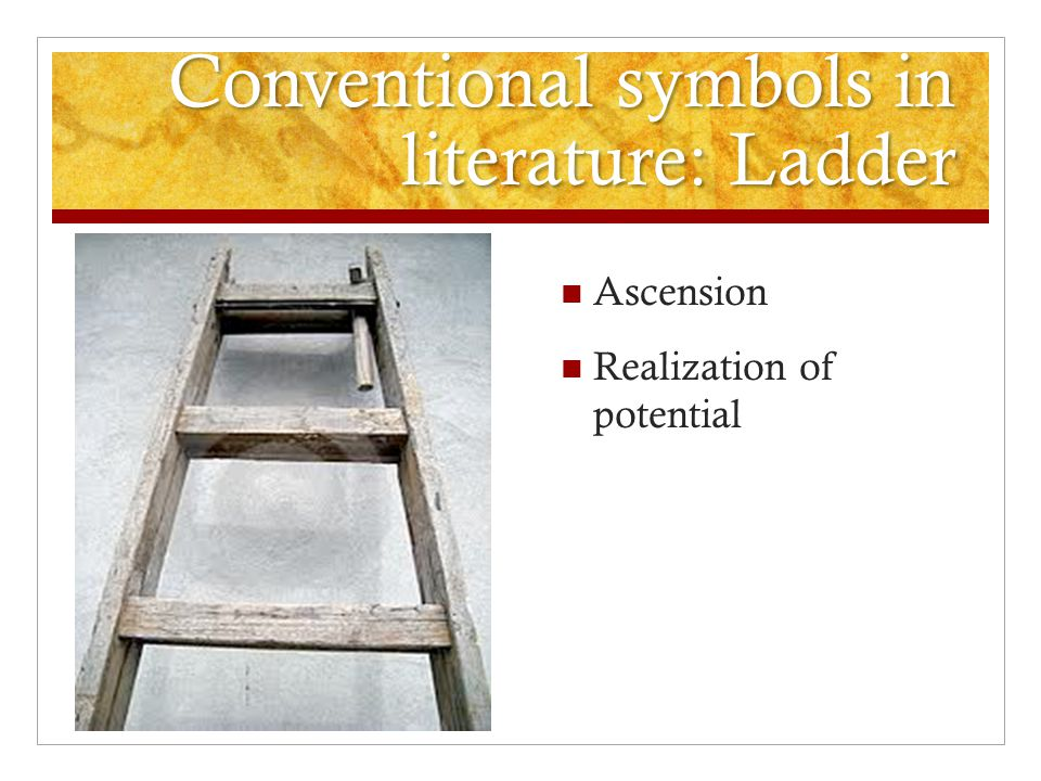 Conventional symbols in literature: Ladder Ascension Realization of potential