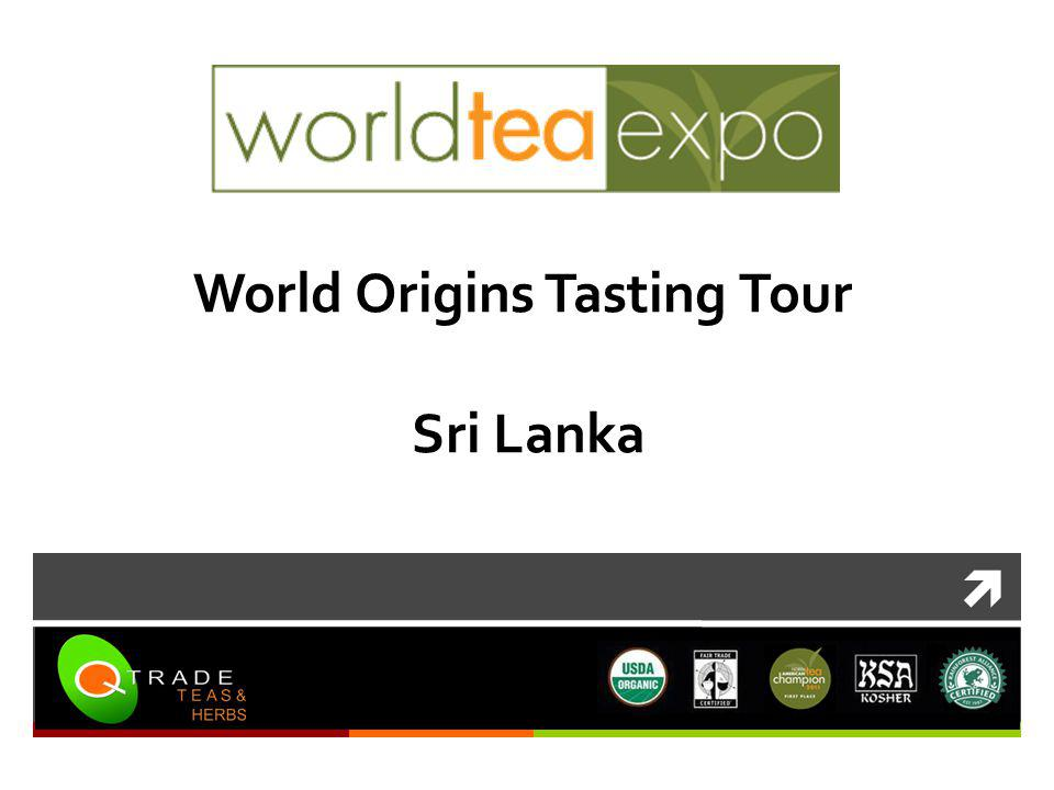 World Origins Tasting Tour Sri Lanka