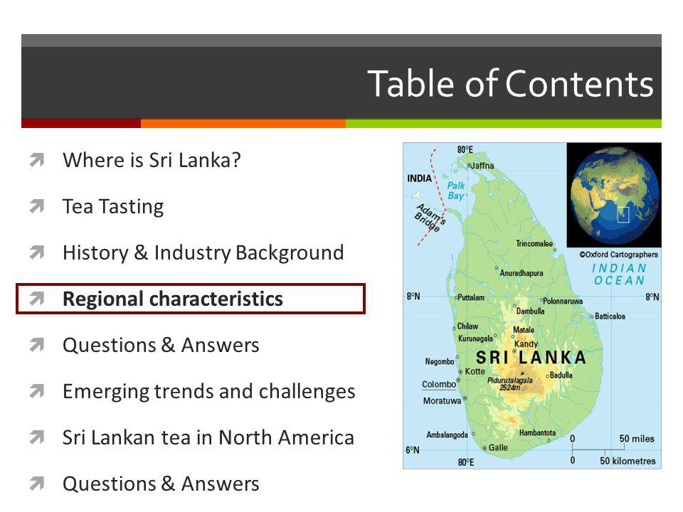 Table of Contents Where is Sri Lanka.