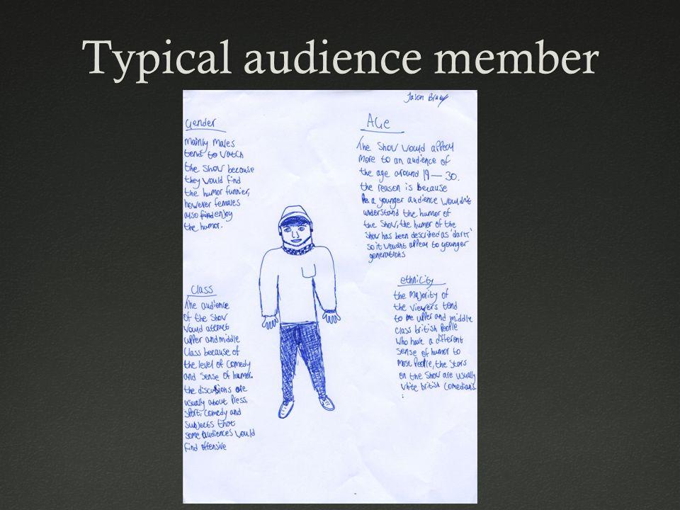 Typical audience memberTypical audience member
