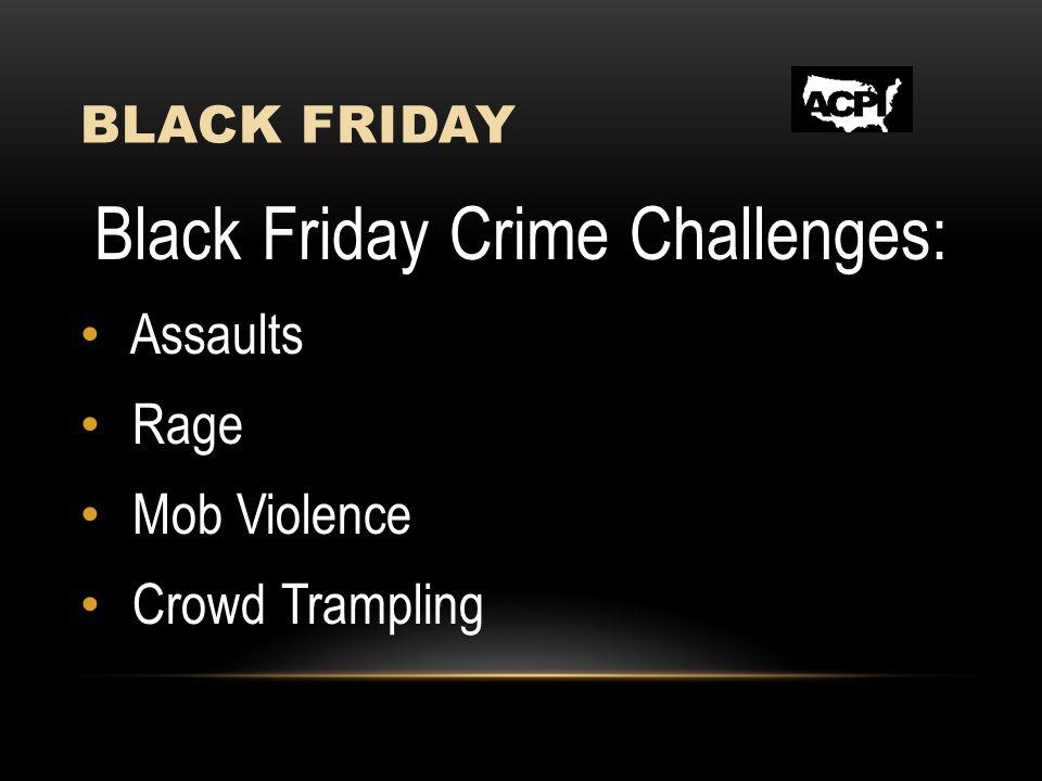 BLACK FRIDAY Black Friday Crime Challenges: Assaults Rage Mob Violence Crowd Trampling