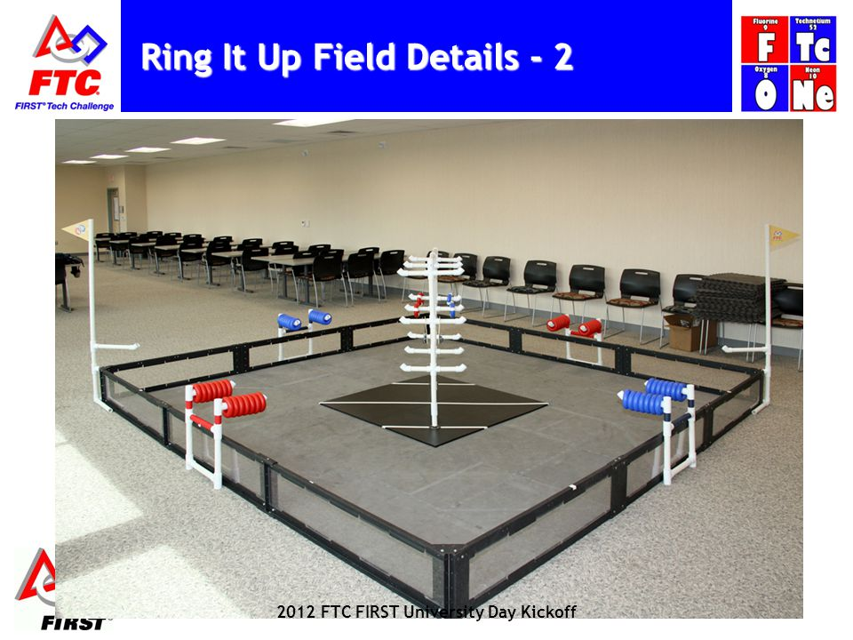 Ring It Up Field Details FTC FIRST University Day Kickoff