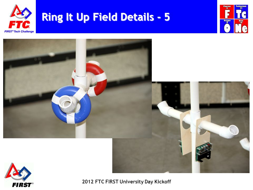 Ring It Up Field Details - 5 2012 FTC FIRST University Day Kickoff