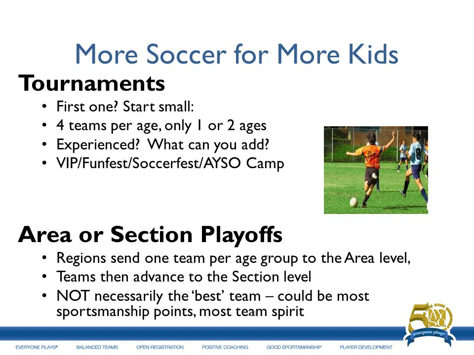 More Soccer for More Kids Tournaments First one.
