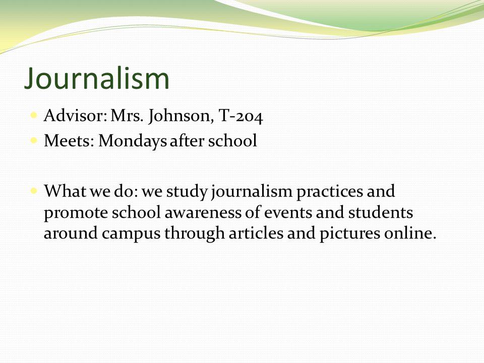 Journalism Advisor: Mrs.