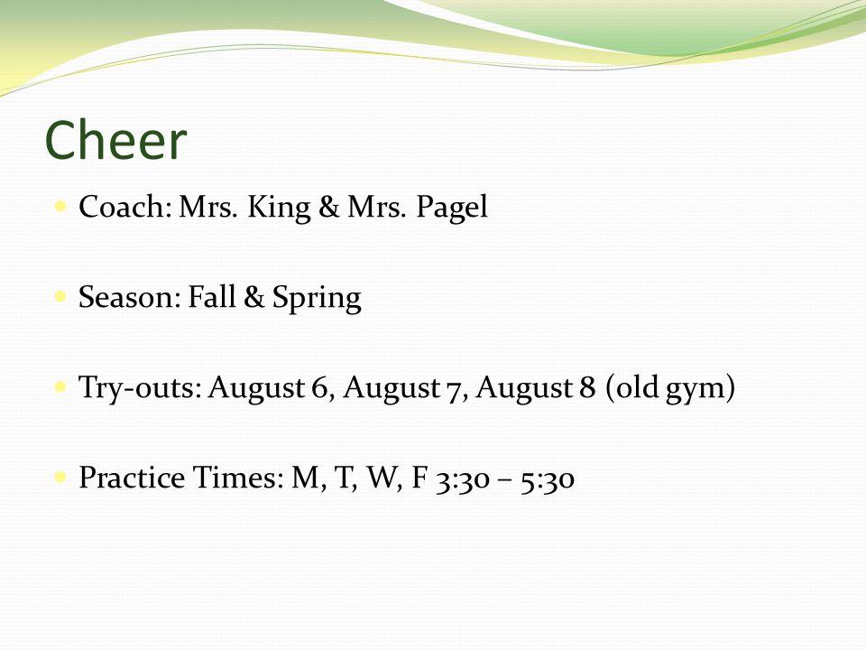 Cheer Coach: Mrs. King & Mrs.