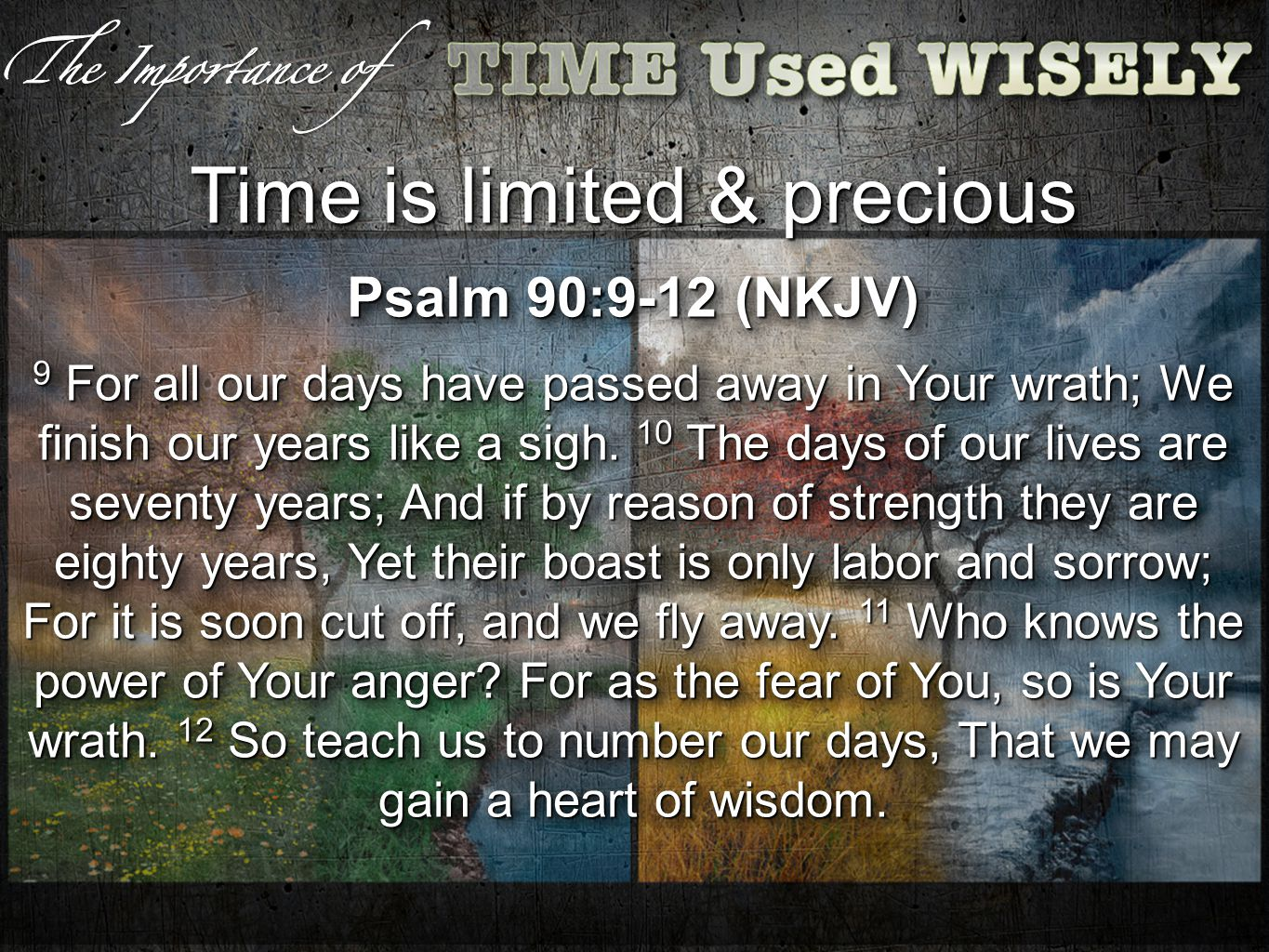 How will you live out the rest of your time.(1 Pet 4:2) Have you obeyed the gospel.