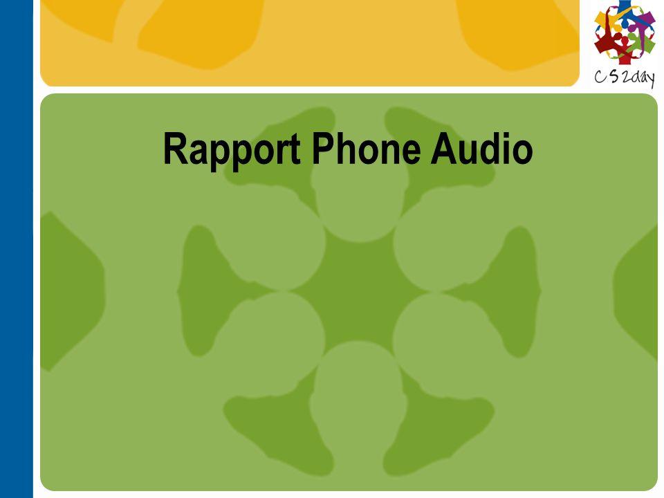 Rapport Phone Audio