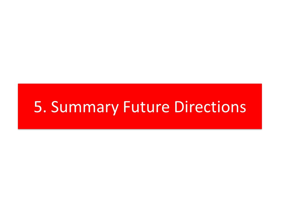 5. Summary Future Directions