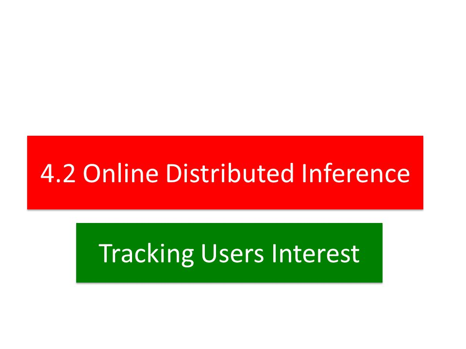 4.2 Online Distributed Inference Tracking Users Interest