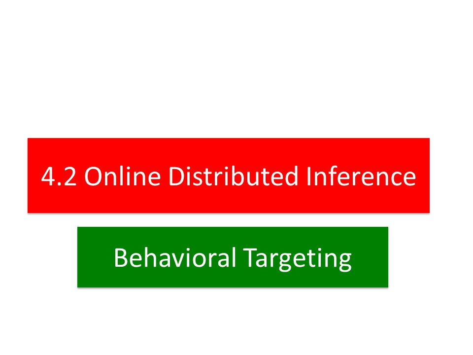 4.2 Online Distributed Inference Behavioral Targeting
