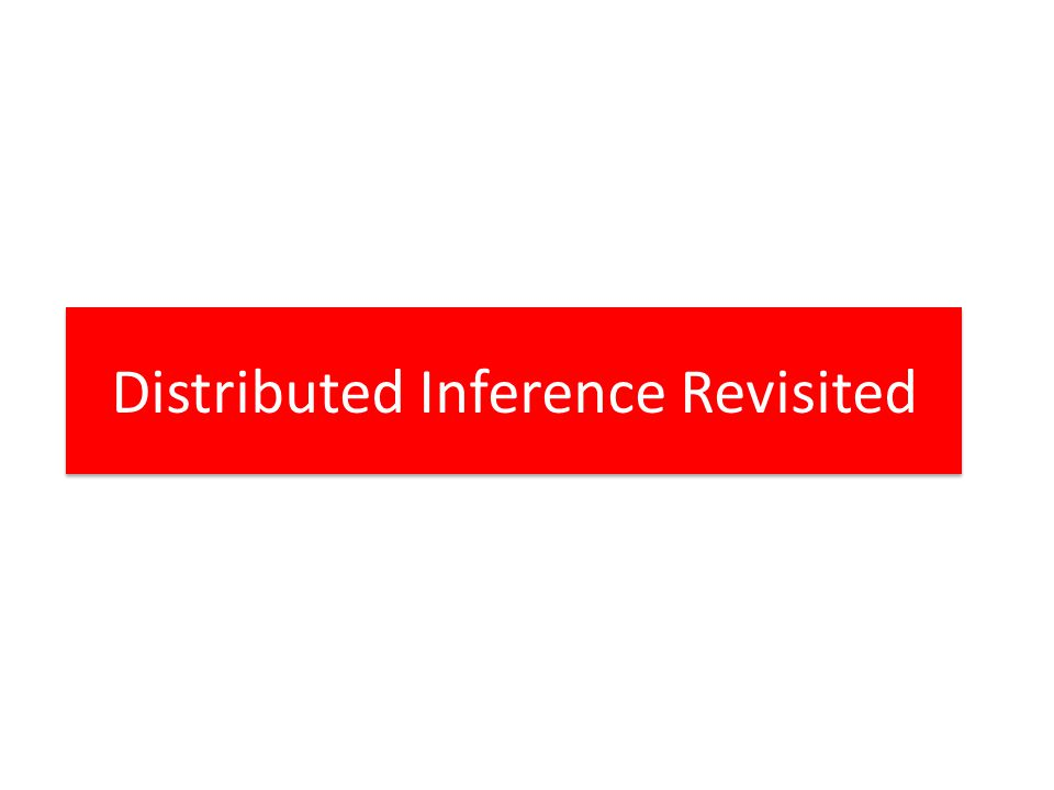 Distributed Inference Revisited