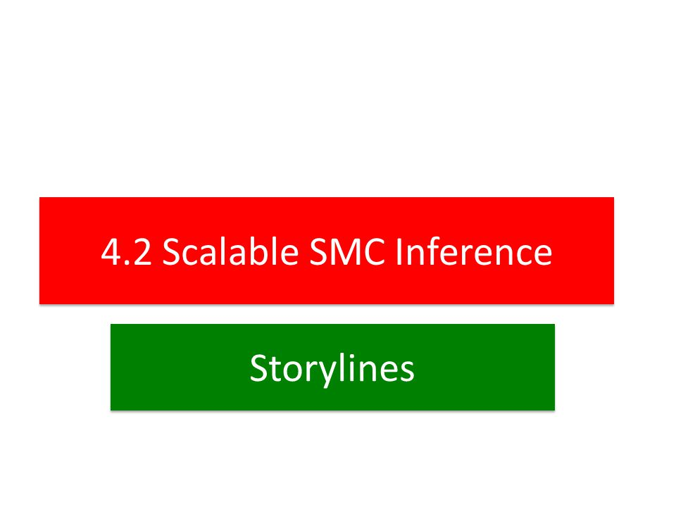 4.2 Scalable SMC Inference Storylines