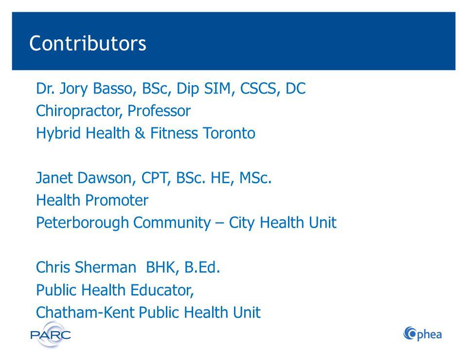 Contributors Dr.