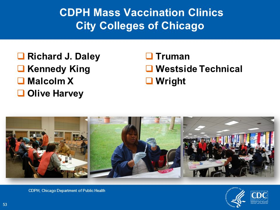 CDPH Mass Vaccination Clinics City Colleges of Chicago Richard J.