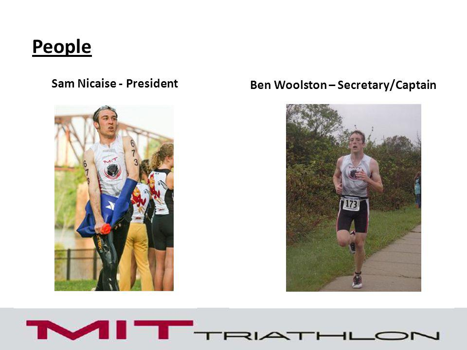 People Ben Woolston – Secretary/Captain Sam Nicaise - President