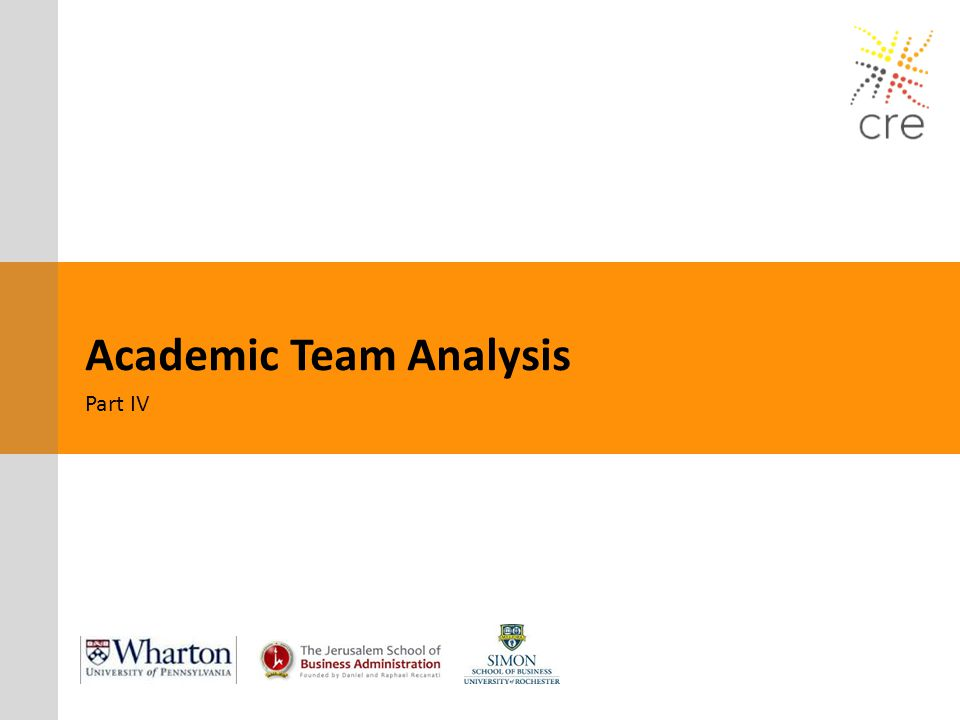 Academic Team Analysis Part IV