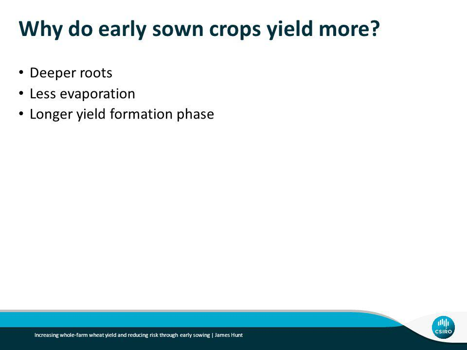 Why do early sown crops yield more.