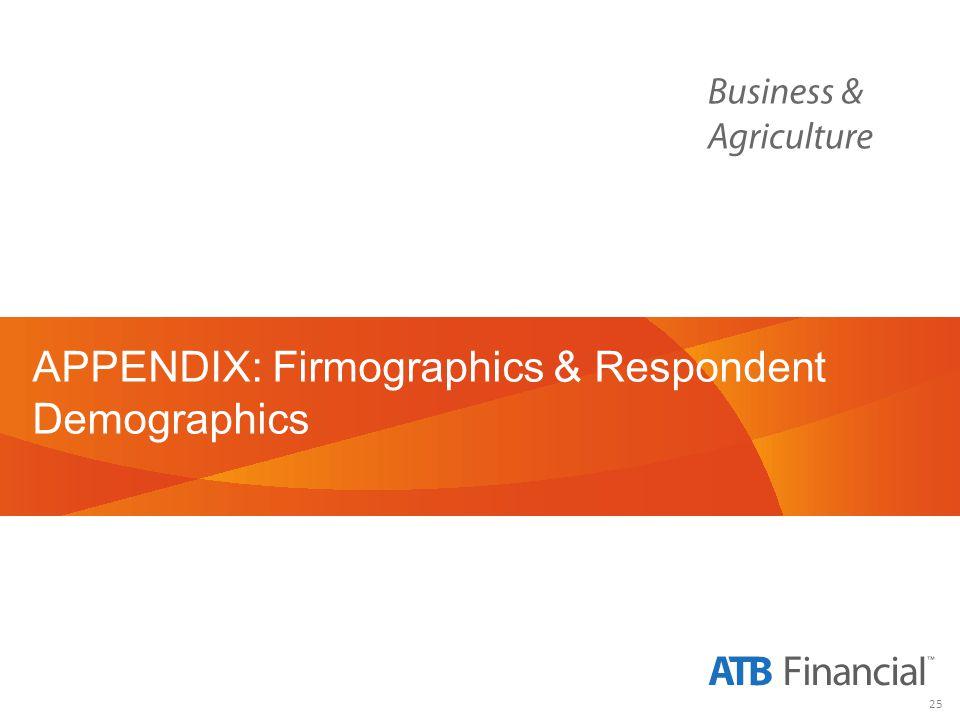 25 APPENDIX: Firmographics & Respondent Demographics