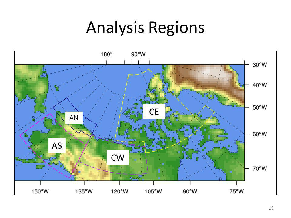 Analysis Regions 19 CE CW AS AN