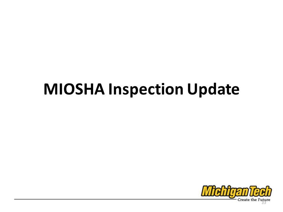 MIOSHA Inspection Update 33