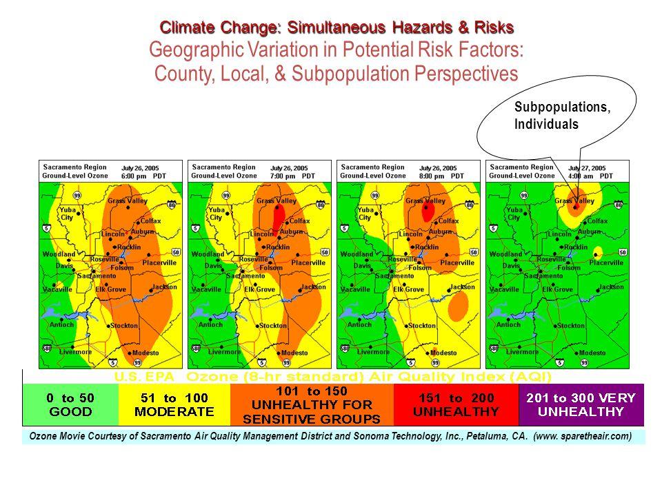 Ozone Movie Courtesy of Sacramento Air Quality Management District and Sonoma Technology, Inc., Petaluma, CA.