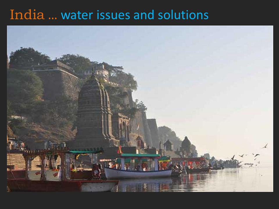 India … water issues and solutions