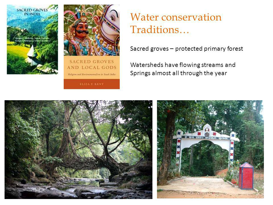 Water conservation Traditions… Village ponds and tanks