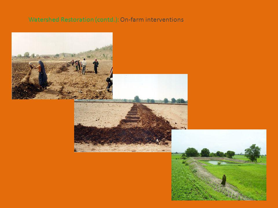 Watershed Restoration (contd.): On-farm interventions