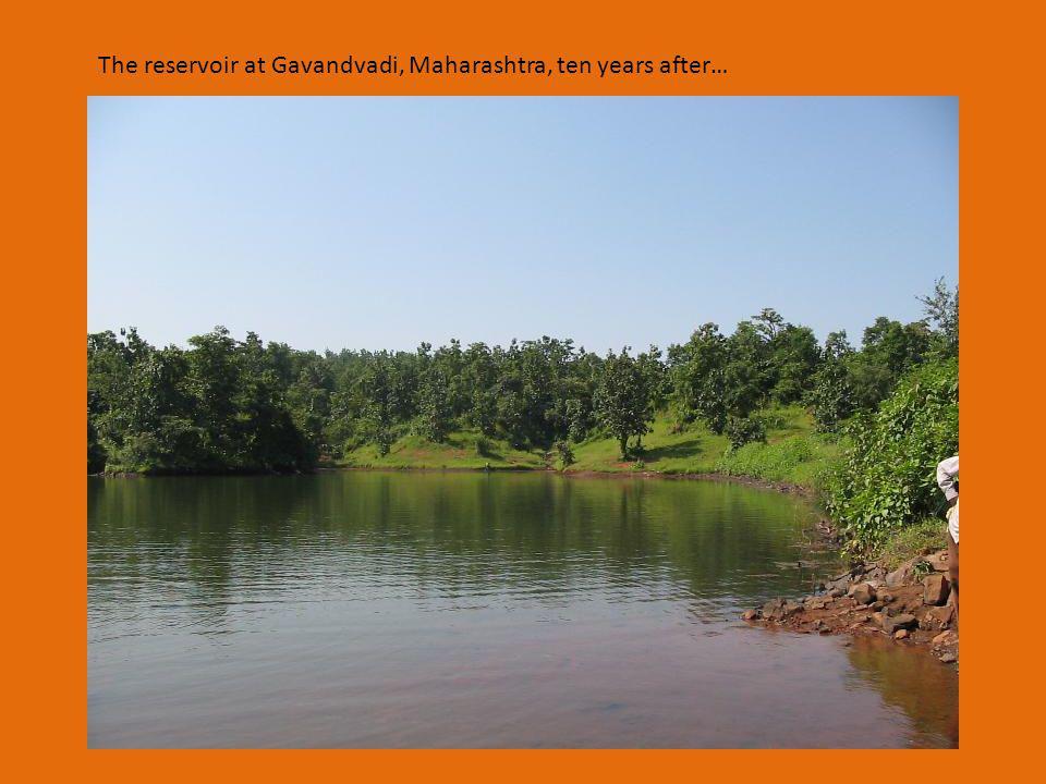 The reservoir at Gavandvadi, Maharashtra, ten years after…