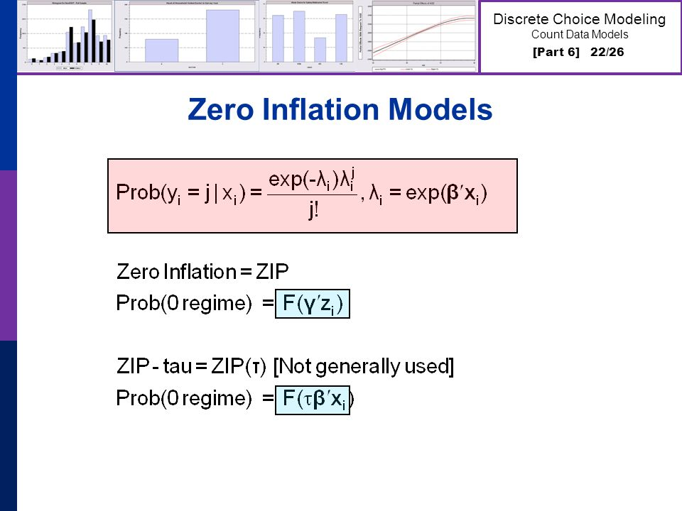 [Part 6] 22/26 Discrete Choice Modeling Count Data Models Zero Inflation Models