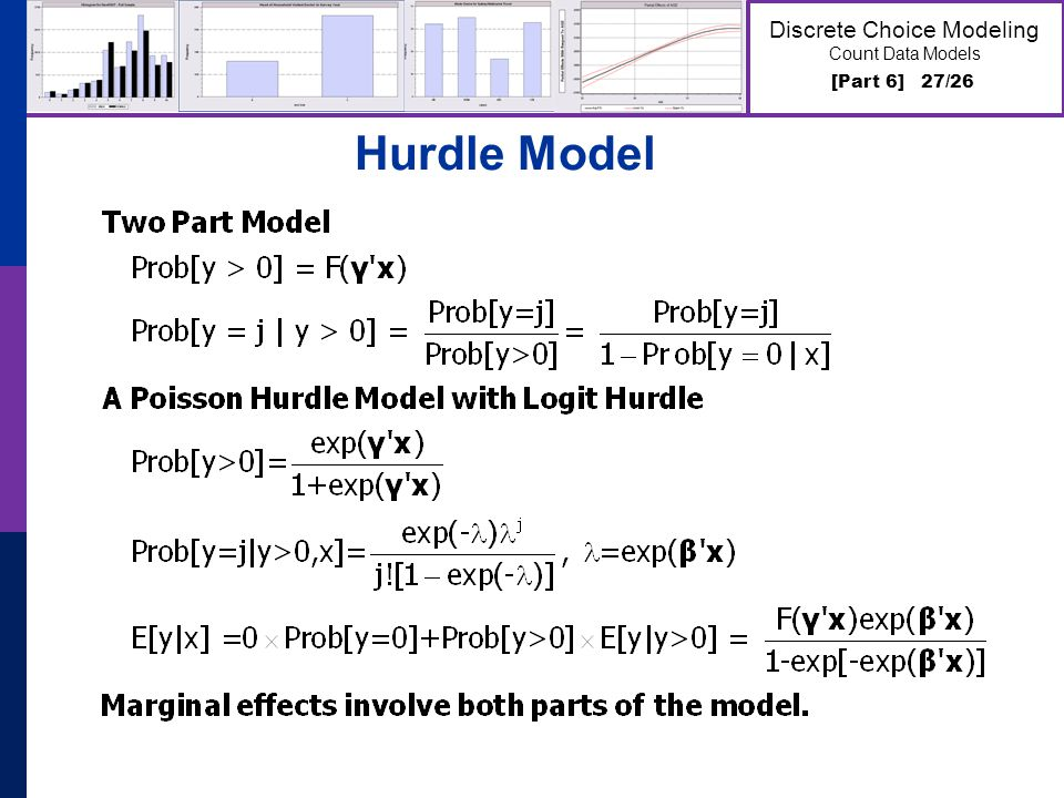 [Part 6] 27/26 Discrete Choice Modeling Count Data Models Hurdle Model